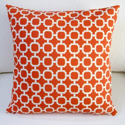Hockley Geometric Modern Outdoor Throw Pillow Color: Mandarin