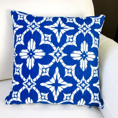 Aspidoras Geometric Modern Indoor/Outdoor Throw Pillow Color: Royal Blue