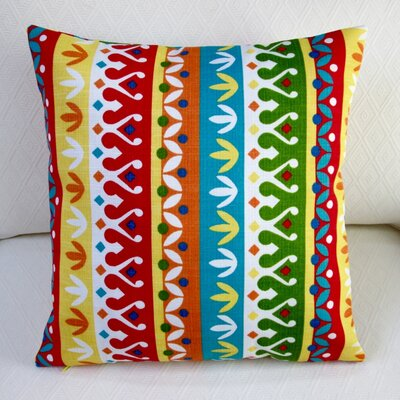 Cotrell Stripe Geometric Modern Indoor/Outdoor Throw Pillow Color: Garden