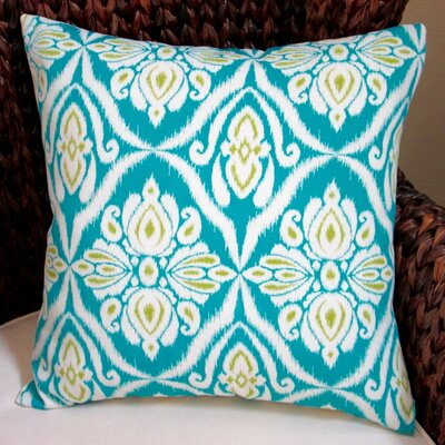 Peacock Geometric Abstract Modern Indoor/Outdoor Throw Pillow