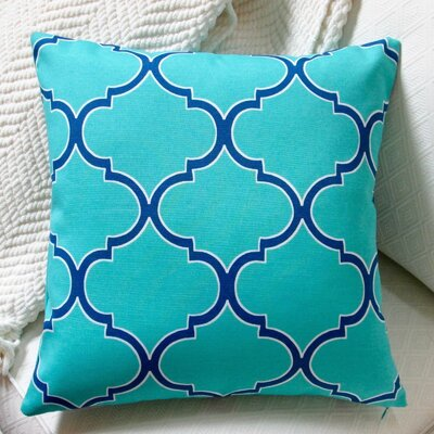 Modern Coastal Geometric Indoor/Outdoor Pillow Cover