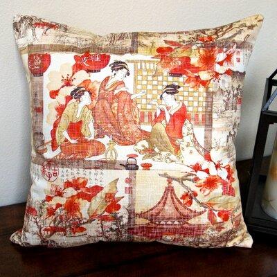 High End Asian Far East Oriental Modern Indoor Cotton Throw Pillow