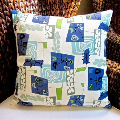 Hawaiian Tropical Island Modern Abstract Coastal Beach Indoor Fabric Throw Pillow