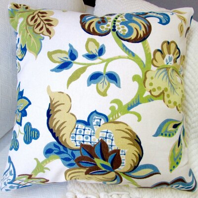 Garden Flowers Modern French Cottage Floral Indoor Cotton Throw Pillow