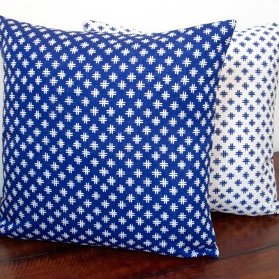 Geometric Crosshatch Linen Reversible Modern Throw Pillow
