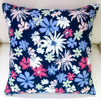 Ink Outburst Flowers Indoor Throw Pillow