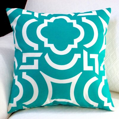 Modern Geometric Coastal Indoor/Outdoor Throw Pillow