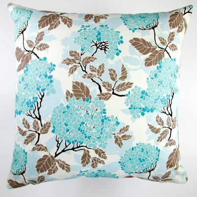 Birch Farm Hydrangea Egg Modern Floral Indoor Cotton Throw Pillow