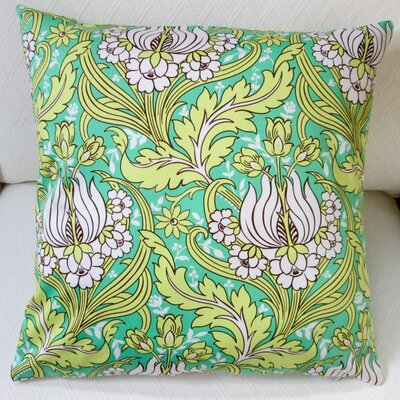 Tulips Indoor Sateen Cotton Throw Pillow