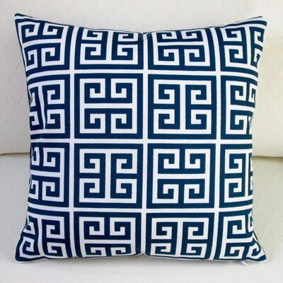 Greek Key Modern Outdoor Throw Pillow