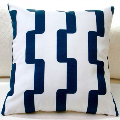 Rhyme Stripe Modern Geometric Indoor/Outdoor Throw Pillow