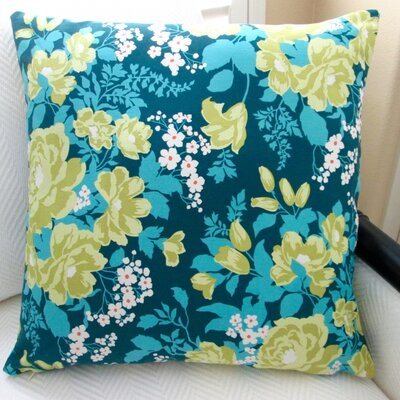 Rose Bouquet Floral Indoor Modern Sateen Throw Pillow