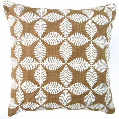 Geometric Floral Modern in Southwestern Indoor Cotton Throw Pillow