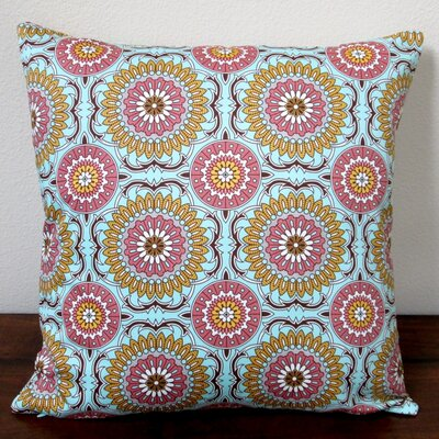 Doily Modern Geometric Circle Indoor Sateen Cotton Throw Pillow