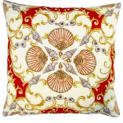 Seashell Seahorse Beach House Indoor/Outdoor Throw Pillow