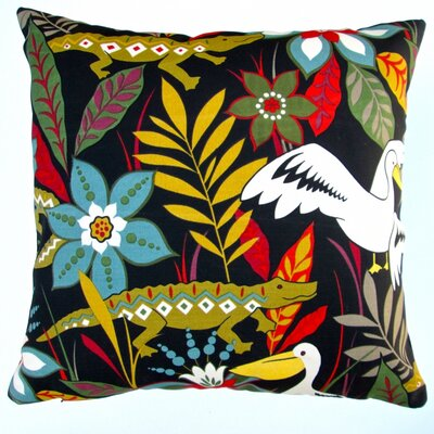 Kids Colorful Crocodile/Bird/Flower Indoor/Outdoor Throw Pillow