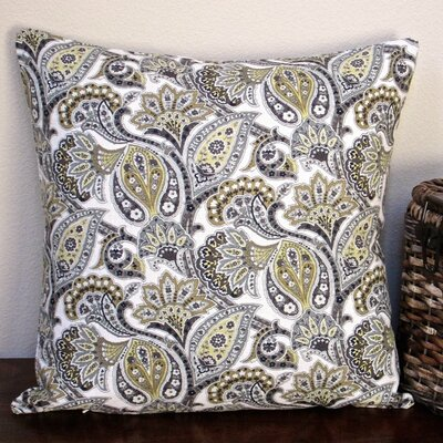 Classic Paisley Modern Contemporary Cottage Indoor Cotton Throw Pillow