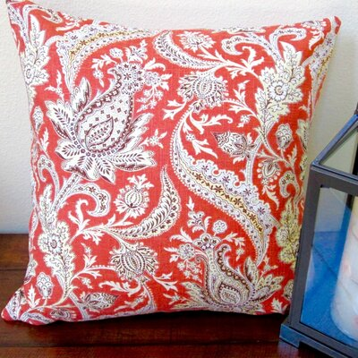 Classic Vintage Paisley Modern Contemporary Cottage Indoor Throw Pillow