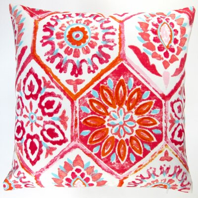 Abstract Geometric Caribbean Beach House Modern Indoor/Outdoor Pillow Cover