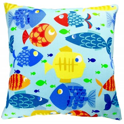 Kids Colorful Fish Indoor/Outdoor Throw Pillow