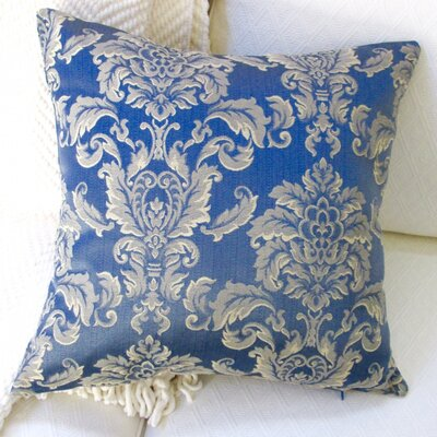 Morante in Bermuda European Damask Modern Indoor Cotton Throw Pillow