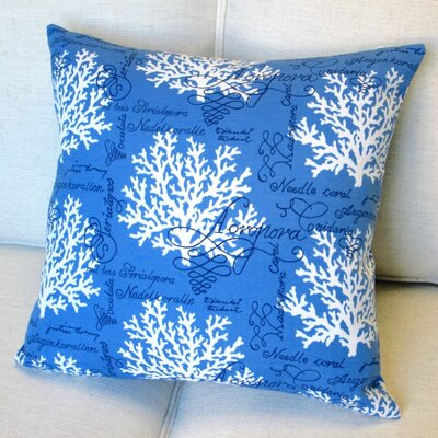 Sea Reef Pillow Cover Color: Blue