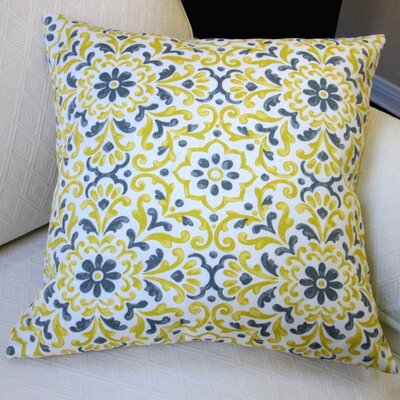 Jillara Printed Outdoor Throw Pillow Color: Yellow