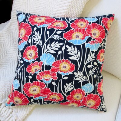 Cotton Throw Pillow Color: Midnight Blue