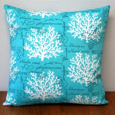 Sea Reef Throw Pillow Color: Turquoise