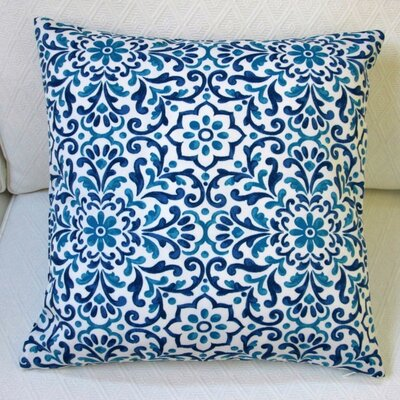 Jillara Printed Outdoor Throw Pillow Color: Blue
