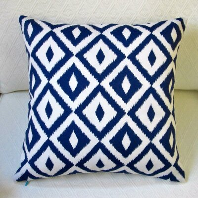 Modern Coastal Geometric Indoor/Outdoor Pillow Cover Color: Blue