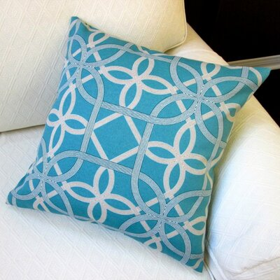 Keene Modern Coastal Outdoor Throw Pillow Color: Teal
