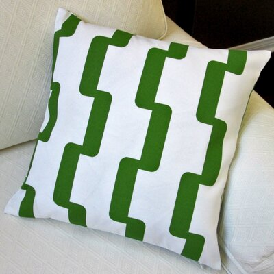 Geometric Stripe Indoor/Outdoor Pillow Cover Color: Green