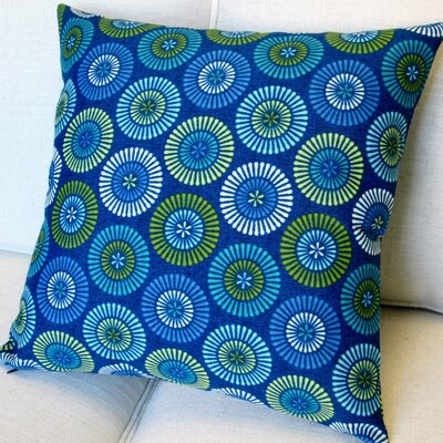 Geometric Circles Indoor/Outdoor Throw Pillow
