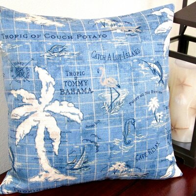 Tropical Island Song Ocean Outdoor Pillow Cover