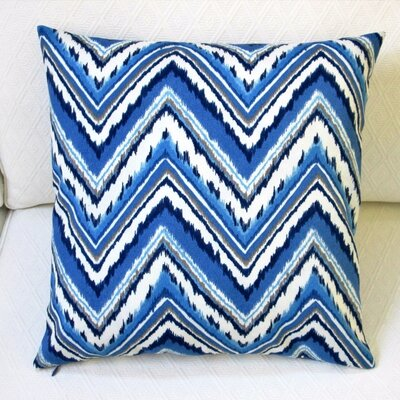 Chevron Zig Zag Outdoor Throw Pillow