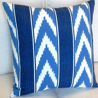 Ikat Stripe Cornflower Outdoor Pillow Cover