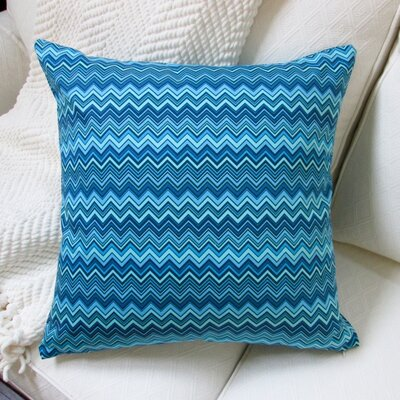 Zig Zag Cotton Pillow Cover