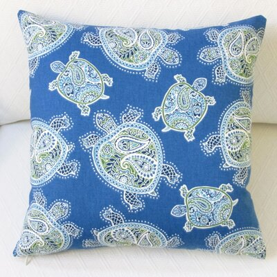 Tranquil Sea Turtles Modern Coastal Beach House Cotton Pillow Cover