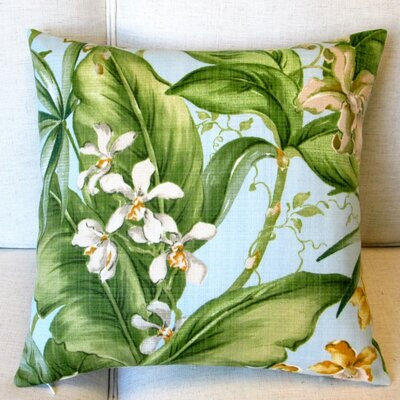 Orchids Tropical Floral Indoor/Outdoor Pillow Cover