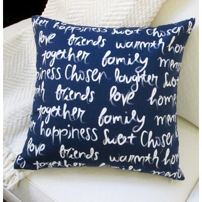 Love, Happiness, Laughter Cotton Throw Pillow