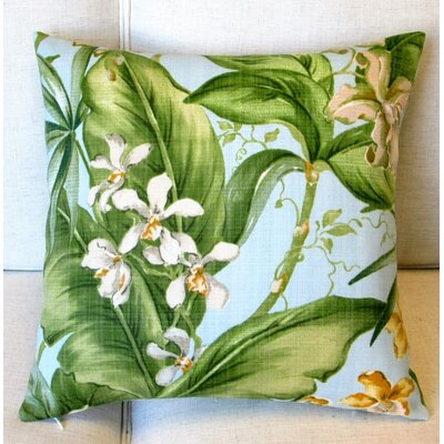 Orchids Tropical Floral Indoor/Outdoor Throw Pillow