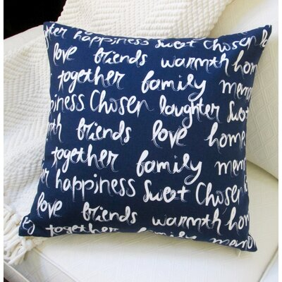 Love, Happiness, Laughter Cotton Pillow Cover