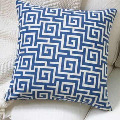 Greek Key Outdoor Throw Pillow