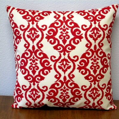 Damask Jewel Pattern Outdoor Throw Pillow