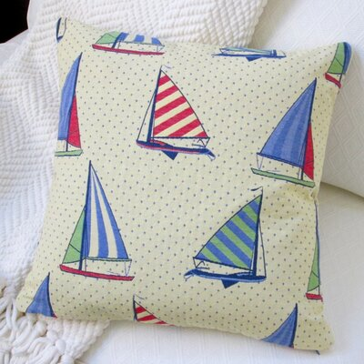 Stroup Balboa Sail Boat Modern Coastal Throw Pillow