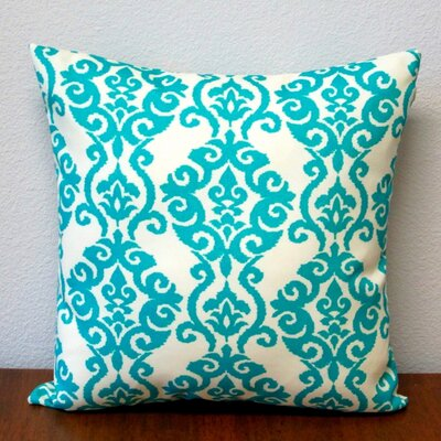 Damask Outdoor Throw Pillow