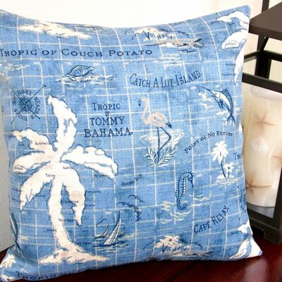Tropical Island Song Indoor/Outdoor Throw Pillow