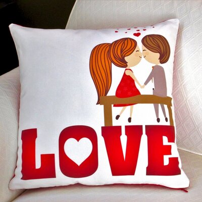 Valentines Day Love Cotton Throw Pillow