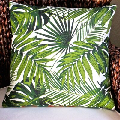Tropical Botanic Palm Leaf Indoor Pillow Cover